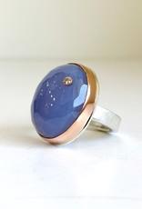 JAMIE JOSEPH Blue Chalcedony and Diamond Ring
