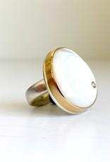 JAMIE JOSEPH Mother of Pearl and Diamond Ring