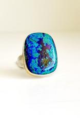 JAMIE JOSEPH Rectangle Chrysocolla, Azurite & Malachite Ring