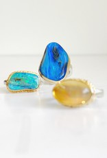 JAMIE JOSEPH Vertical Asymmetrical Australian Opal Ring