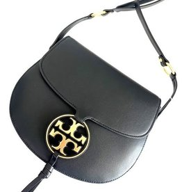 TORY BURCH Miller Metal Saddlebag - Black