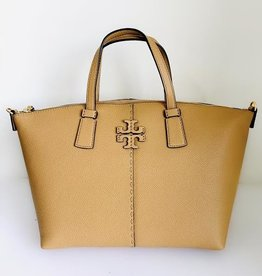 TORY BURCH Mcgraw Top-Zip Satchel - Tiramisu