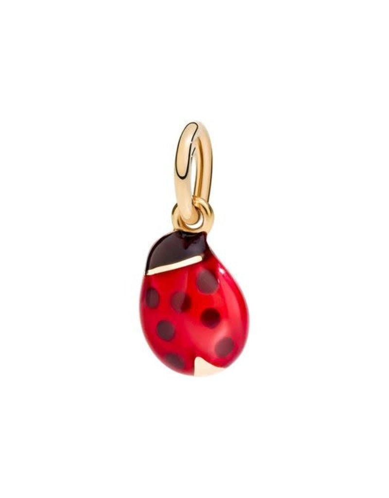 DODO Rose Gold Enamel Ladybug Charm