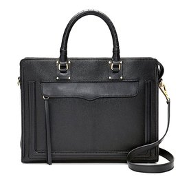 REBECCA MINKOFF Bree Large Top Zip Satchel - Black