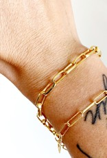 SENNOD Thin Paperclip Chain Bracelet