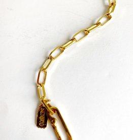 SENNOD Thick Paperclip Chain Bracelet