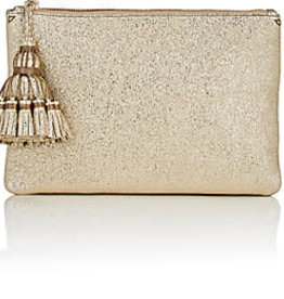 ANYA HINDMARCH Georgiana Clutch - Pale Gold