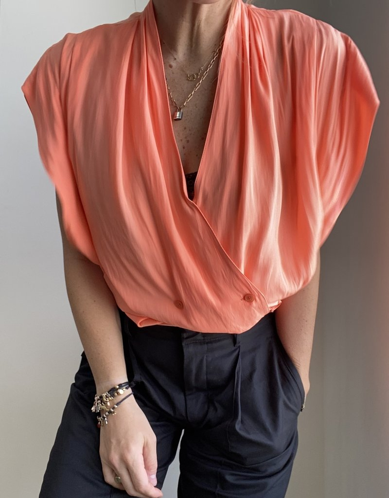 SMYTHE Yoda Blouse - Tangerine