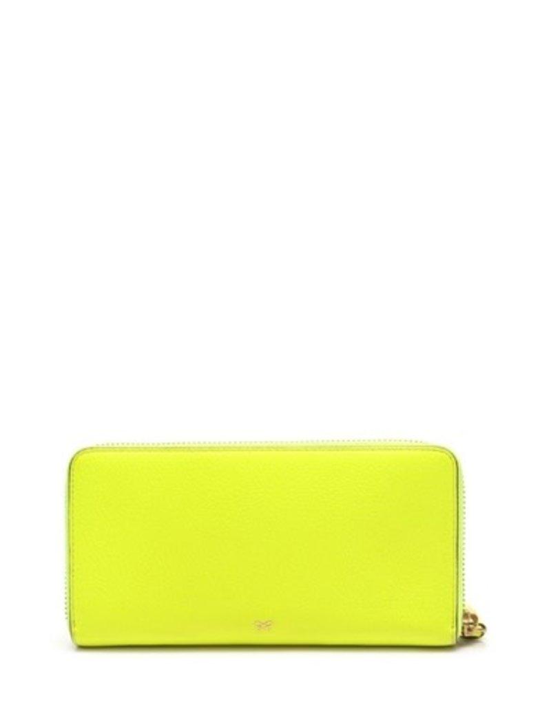 ANYA HINDMARCH Neon Tumble Large Zip Round Wallet