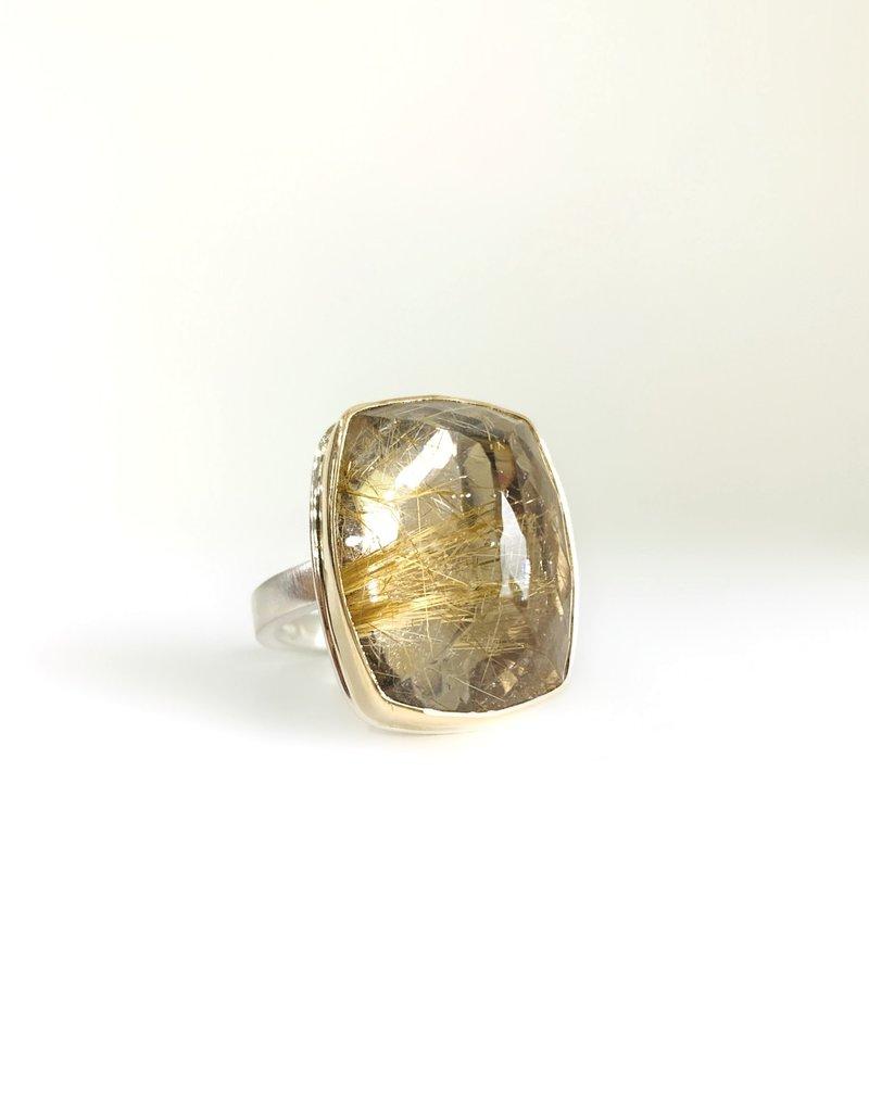 JAMIE JOSEPH Inverted Golden Rutilated Quartz Ring