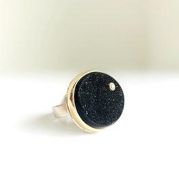 JAMIE JOSEPH Brazilian Drusy Ring with Diamond