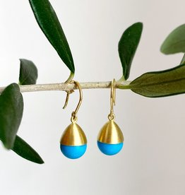 MALLARY MARKS Buoy - Turquoise & 18K Earrings