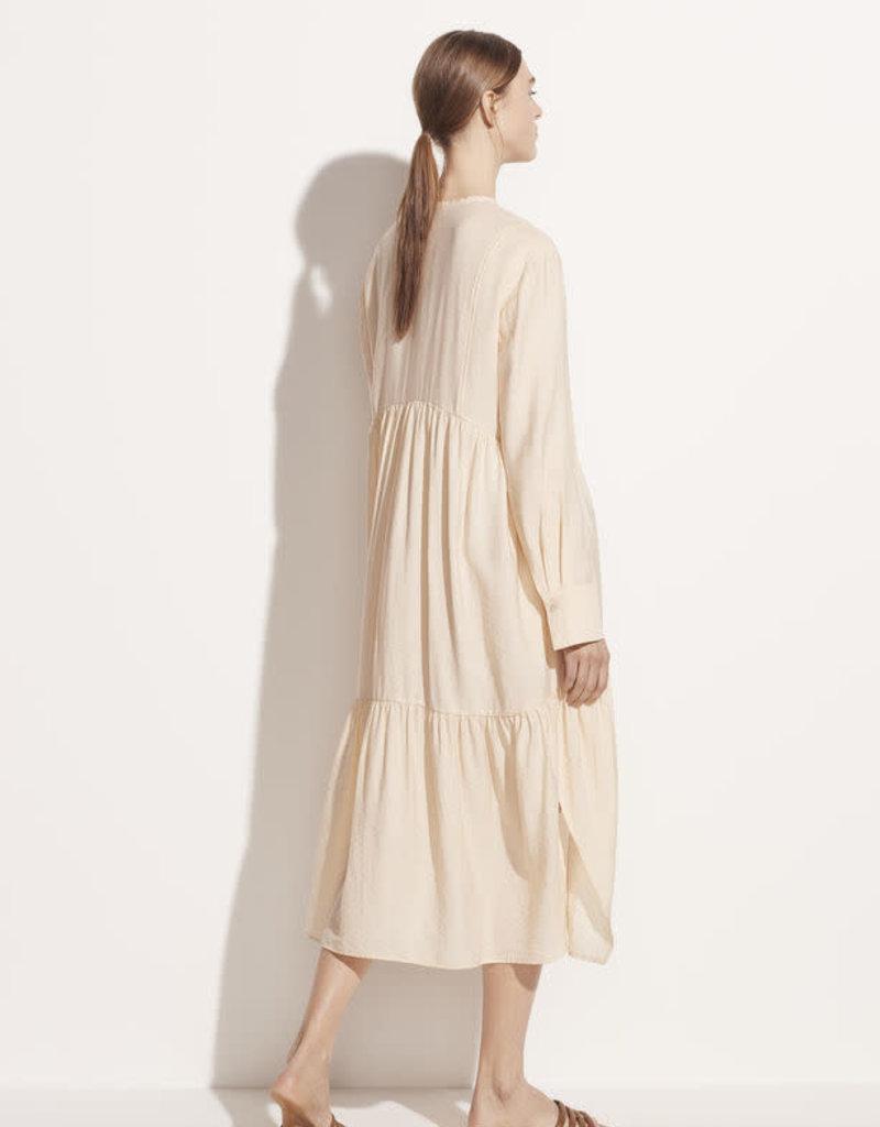 VINCE Tiered Longsleeve Dress - Naples Sun