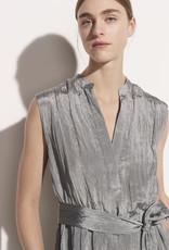 VINCE Textured Sleeveless Popover Dress - Horizon