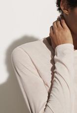 VINCE Essential Pima Long-Sleeve Crew - Porcelain Pink