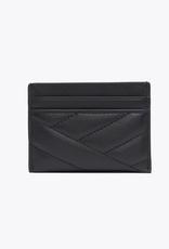 TORY BURCH Kira Chevron Card Case - Black