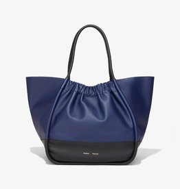 PROENZA SCHOULER XL Ruched Tote - Color Block (Black/Blue)