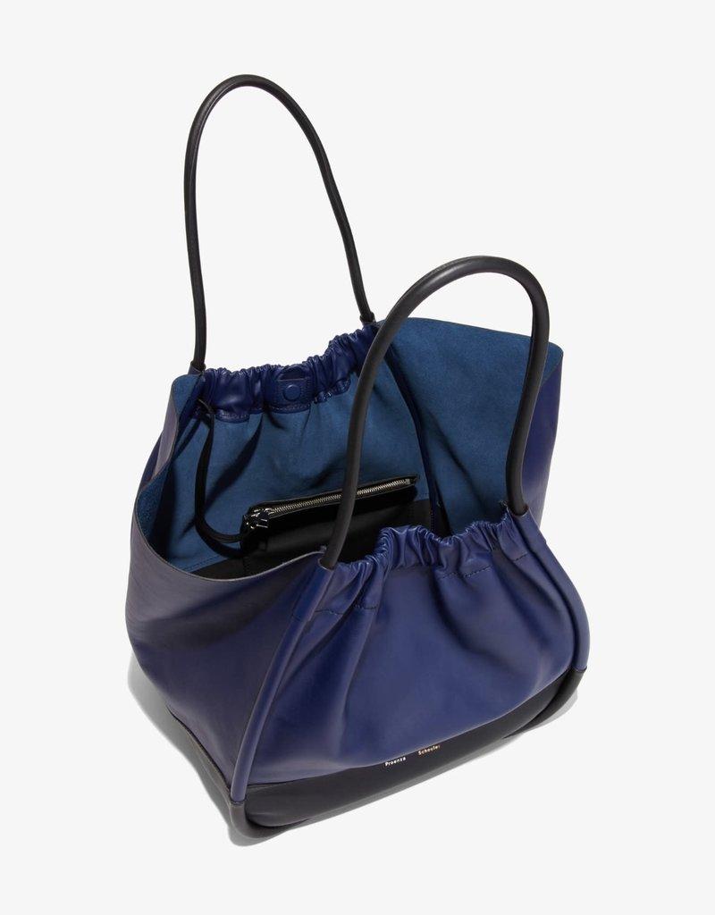 PROENZA SCHOULER XL Ruched Tote - Color Block (Black/Blue)