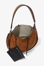 PROENZA SCHOULER Large Arch Shoulder Bag - Suede Chocolate