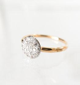 POMELLATO White Diamond Small Sabbia Ring