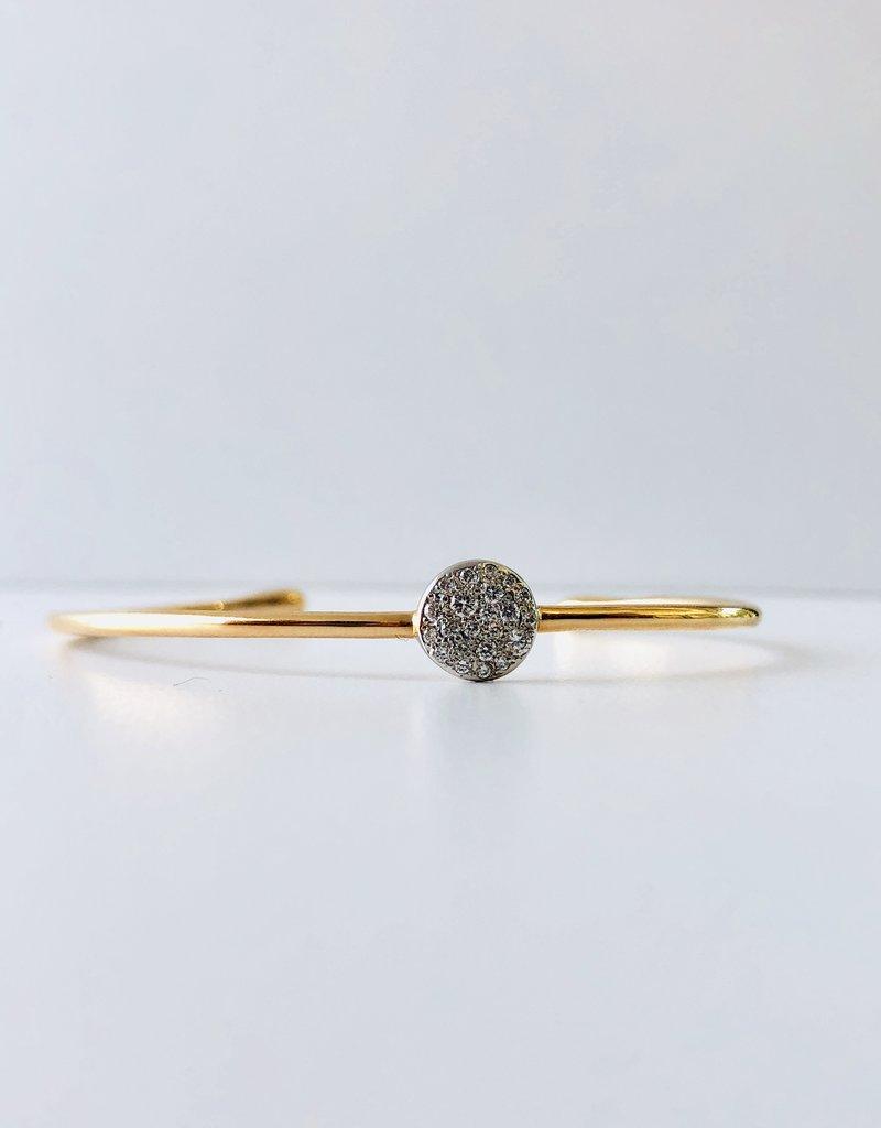 POMELLATO White Diamond Sabbia Cuff Bracelet