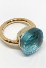 POMELLATO Blue Topaz Assoluto Nudo Ring