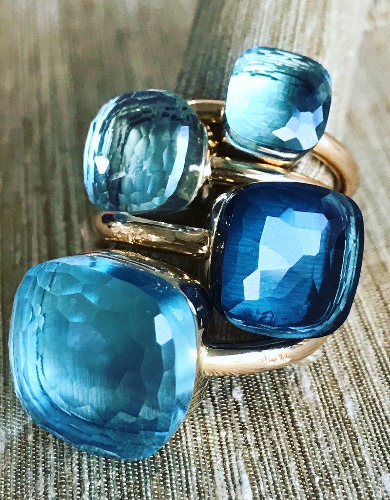 POMELLATO Blue Topaz Petit Nudo Ring