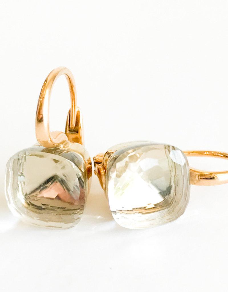 POMELLATO White Topaz Nudo Earrings