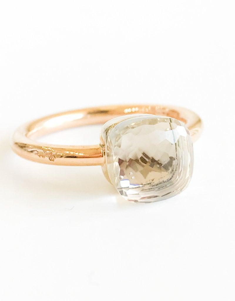 POMELLATO White Topaz Nudo Ring