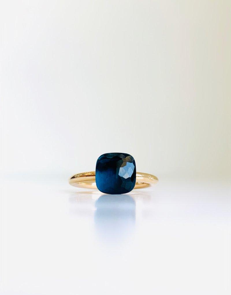 POMELLATO London Blue Topaz Petit Nudo Ring
