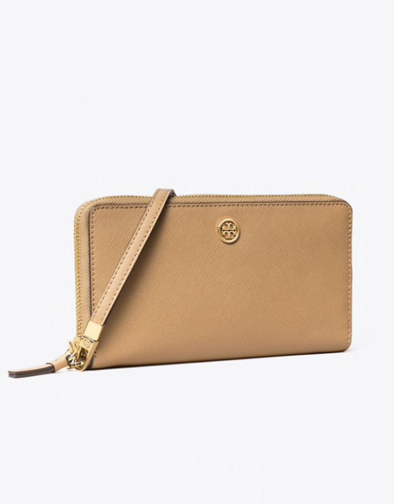 TORY BURCH Robinson Passport Continental Wallet - Cardamom