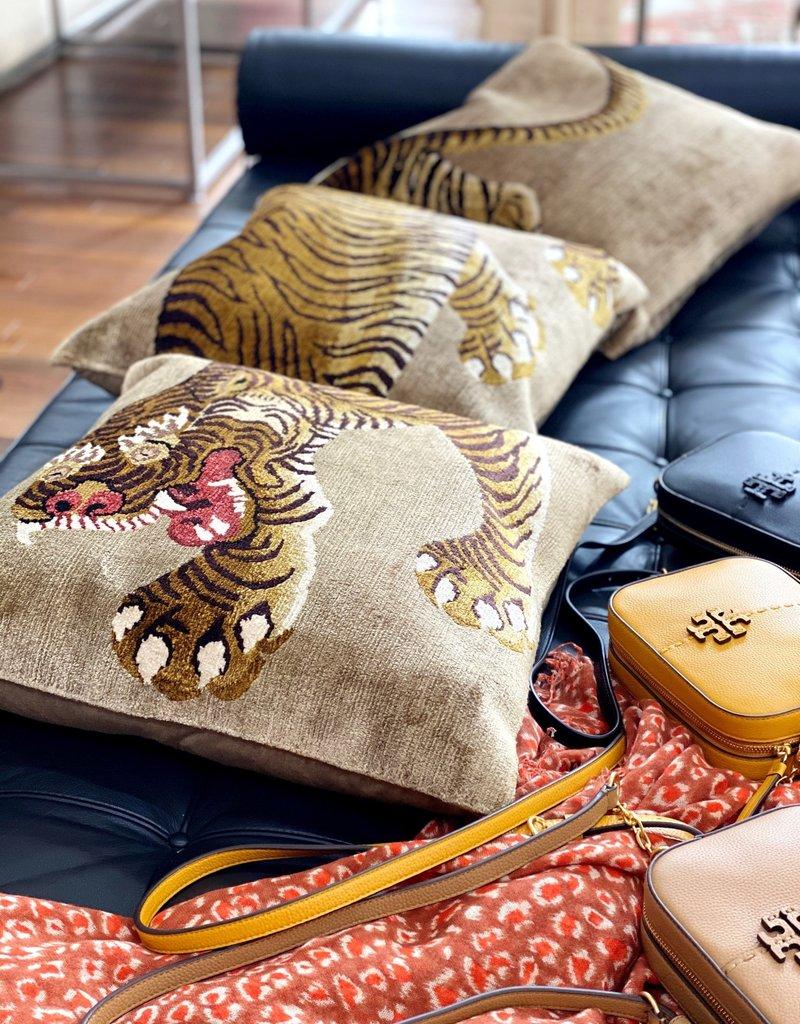 Set of 3 Pillows - Tiger Full Body - Gold