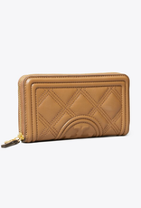 TORY BURCH Fleming Soft Zip Continental Wallet - Moose