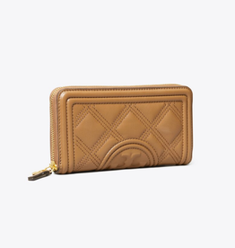 TORY BURCH Fleming Soft Zip Continental Wallet - Moose