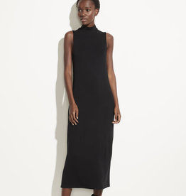 VINCE Sleeveless Mock Neck Dress - Black