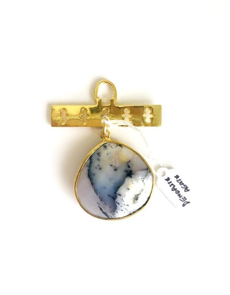 SENNOD Dendrite Agate on Clover Bar Vignette