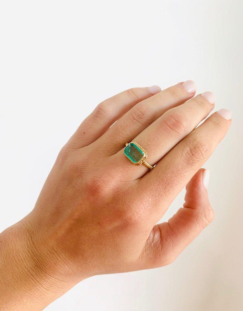JAMIE JOSEPH Small Rectangular Emerald Ring
