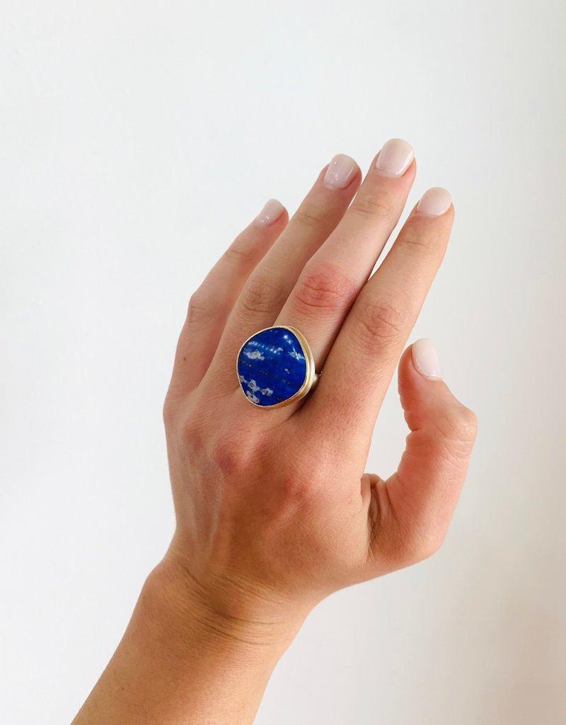 JAMIE JOSEPH Asymmetrical Lapis Ring