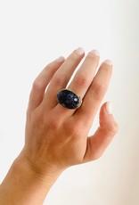JAMIE JOSEPH Pietersite Ring with Diamond