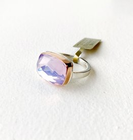JAMIE JOSEPH Faceted Lavender Amethyst Ring - Size 7.25