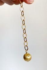 "SENNOD Italian Lobster Clasp + Ball Necklace - 34"""
