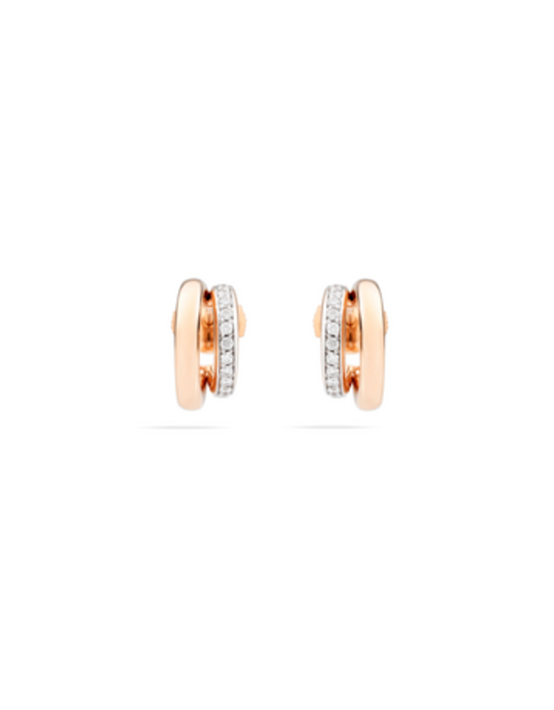 POMELLATO Iconica Diamond Double Earrings