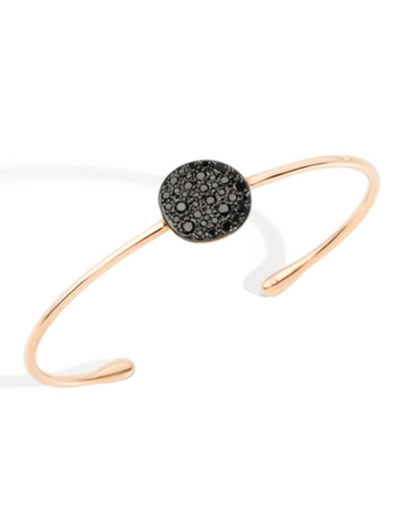 POMELLATO Black Diamond Sabbia Cuff Bracelet
