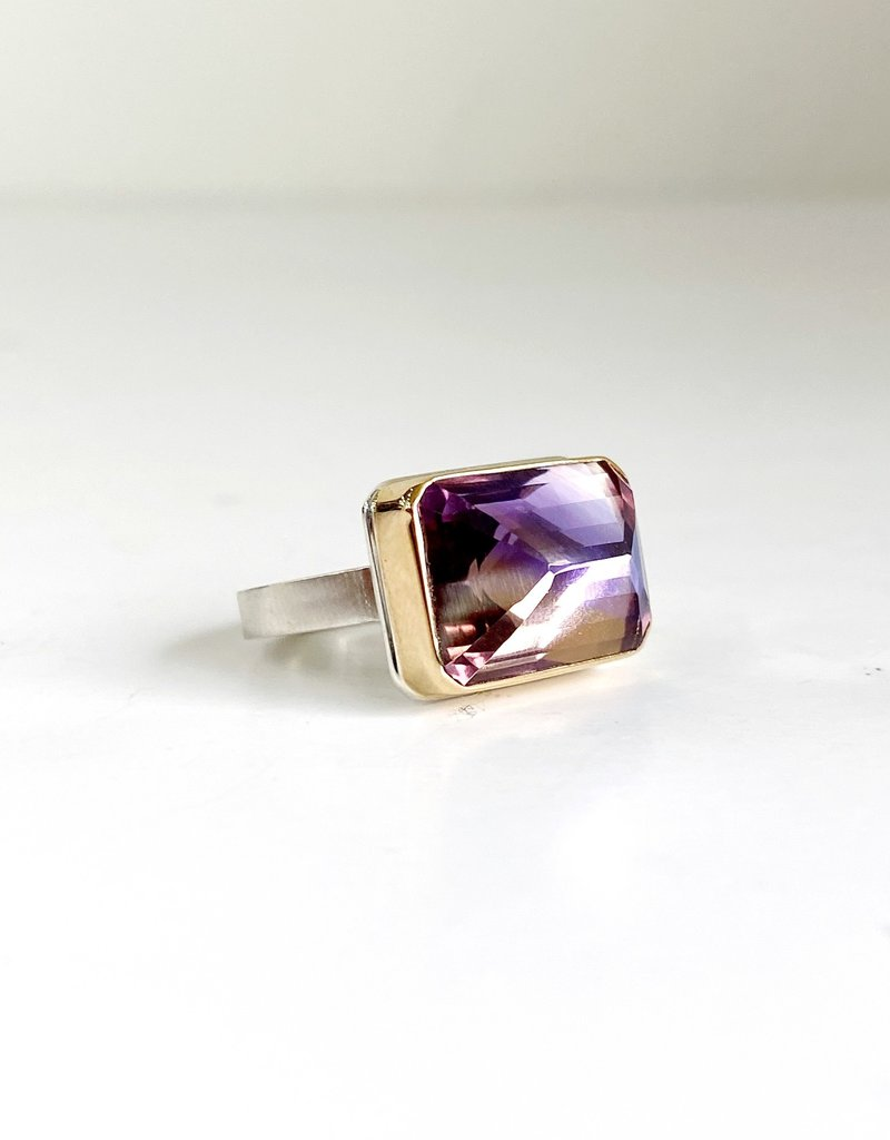 JAMIE JOSEPH Rectangular Inverted Ametrine Ring