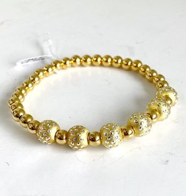SENNOD 5 Dot Ball with Gold Balls Bracelet