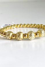 SENNOD 5 Dot Ball with Gold Balls Bracelet