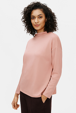 EILEEN FISHER Stretch Terry Funnel Neck Box-Top - Blush