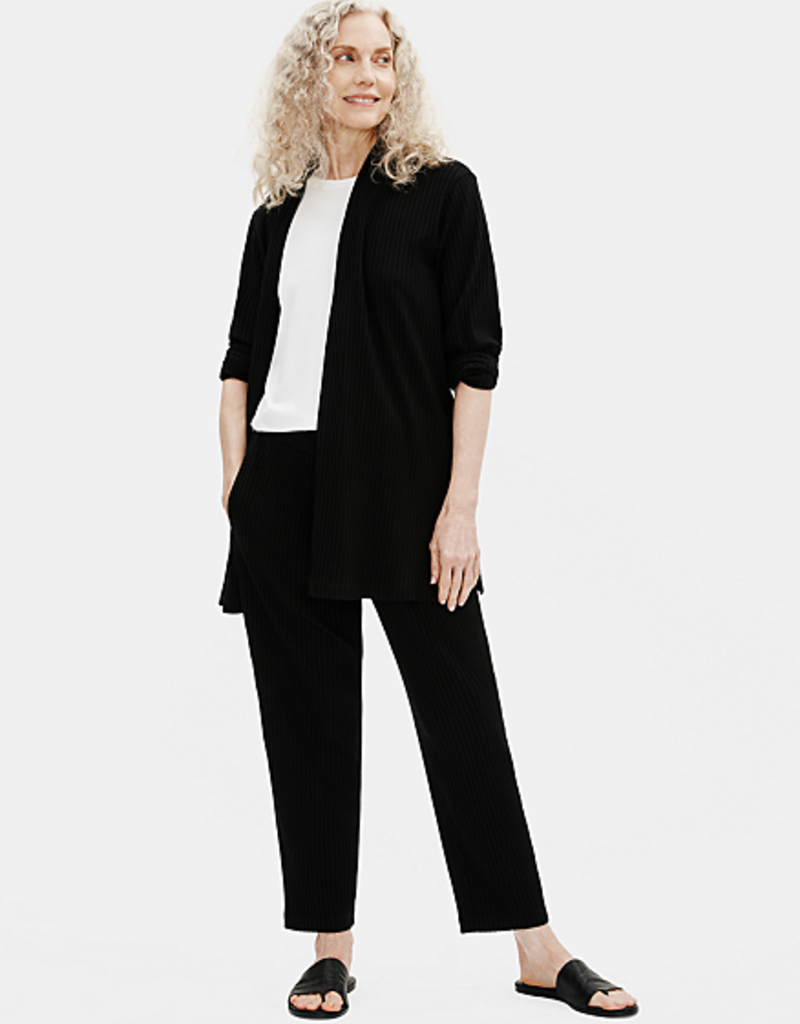 EILEEN FISHER Texture Stretch Rib Tapered Ankle Pant