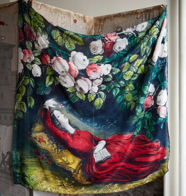 JOHN DERIAN Sleeping Beauty Silk Scarf