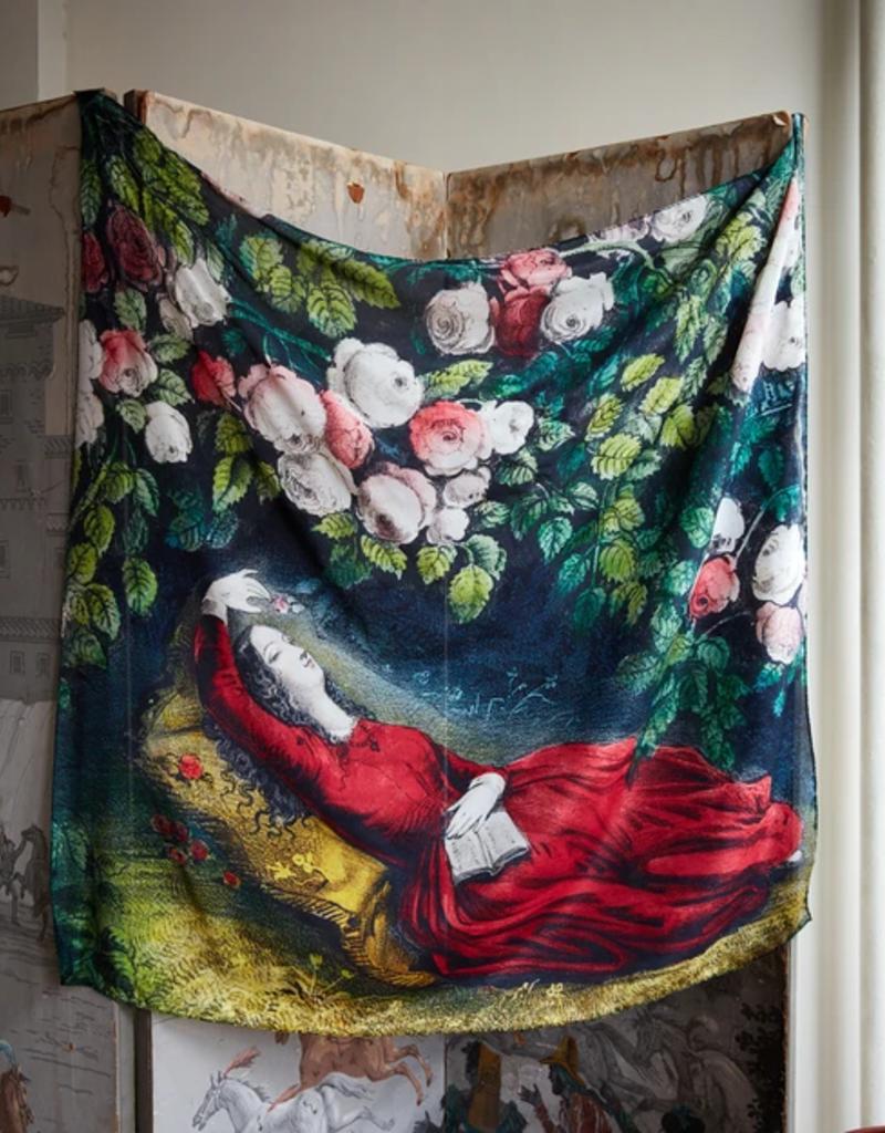 JOHN DERIAN Sleeping Beauty Silk Scarf